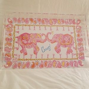 New Lilly Pulitzer Get Trunked Up Acrylic Tray
